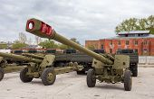 Samara, Russia - May 7, 2013: The 152 Mm Howitzer 2A65 Msta-b. Howitzer Is Intended For Destruction