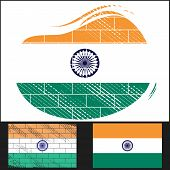 Scratched Flag Of India
