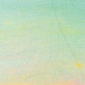 Oil Paint Background, Bright Ultramarine Blue, Yellow, Pink, Turquoise, Large Brush Strokes Painting