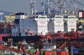 Tankers in shipyard