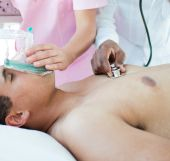 Patient Receiving Oxygen Mask In An Emergency Unit