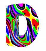 Psychedelic alphabet-D