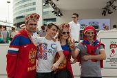 The hockey fans from Russia