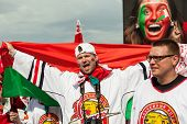 The hockey fans from Belarus