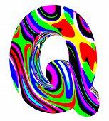 Psychedelic alphabet-Q