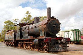picture of workhorses  - The final resting place of an old steam workhorse - JPG
