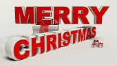 Merry Christmas 3D Text,gift High Resolution