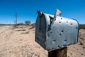bullet holes mailbox