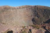 The Crater Of Mount Vesuvius Near Naples, Italy