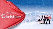 Teamwork Pull Christmas Banner