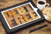 stock photo of debt free  - debt free concept  - JPG
