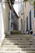 Streets Of Old Town Of Gerceg Novi, Montenegro