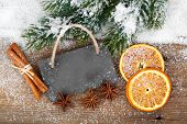 Christmas Decoration With Slate Board,