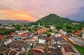 View from the roof on Phuket town, Thailand.