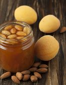 Apricot Jam With Almonds.