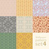 Floral Wallpaper Pattern Set