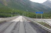 River Bridge Kolyma State Highway Russia