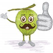 Coconut Fruit Mustache