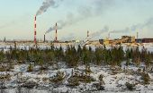 Industrial Landscape. Industry In Northern Russia