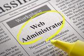 Web Administrator Vacancy in Newspaper.