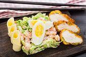 Chicken tempura salad