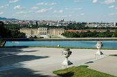 Beautiful view of  the Schonbrunn Palace in Vienna