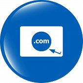 Domain Com Sign Icon. Top-level Internet Domain Symbol
