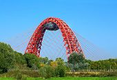 Summer Landscape With Bridge