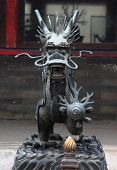 iron dragon in one of parks, Beijing