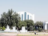 Tashkent Fountains In Front Of Business Centre 2007
