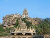 Ancient hilltop temple in Southern India.
