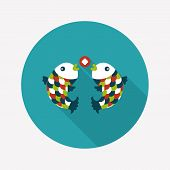 Chinese New Year Flat Icon With Long Shadow,eps10, Chinese Decoration Means