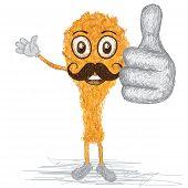 Fried Chiken Mustache