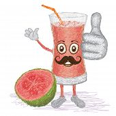 Guava Fruit Juice Mustache