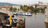 Vltava River In Prague. Czech Republic.