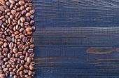 background of coffee beans on the table