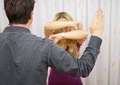 Husband Wants To  Harm His Wife With Slapping, Domestic Violence