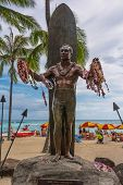 The Duke Kahanamoku statue, Waikiki