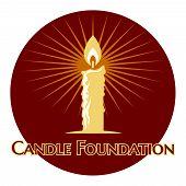 Burning candle logo