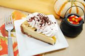 Delicious Cheesecake With Halloween Decorations