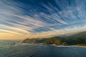 image of windswept  - Amazing view of windswept sky over Chiloe National Park - JPG