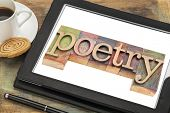 foto of poetry  - poetry word typography  - JPG