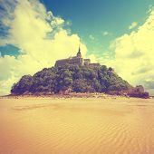 picture of michel  - Vintage style photo of Mont Saint Michel - JPG