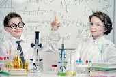 picture of experiments  - Students doing experiments in the laboratory - JPG