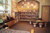 canto de crianças de biblioteca