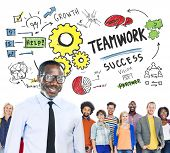 stock photo of collaboration  - Teamwork Team Together Collaboration Diversity People Leadership Concept - JPG