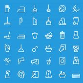 picture of cleaning agents  - Cleaning icons - JPG