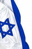picture of israeli flag  - Israeli waving flag on white background - JPG