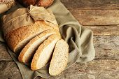 picture of fresh slice bread  - Sliced fresh bread - JPG