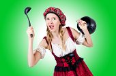 picture of stein  - Young woman in traditional german costume - JPG